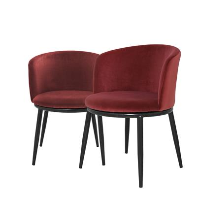 Полукресло EICHHOLTZ Dining Chair Filmore Red арт 111995 : фото 1