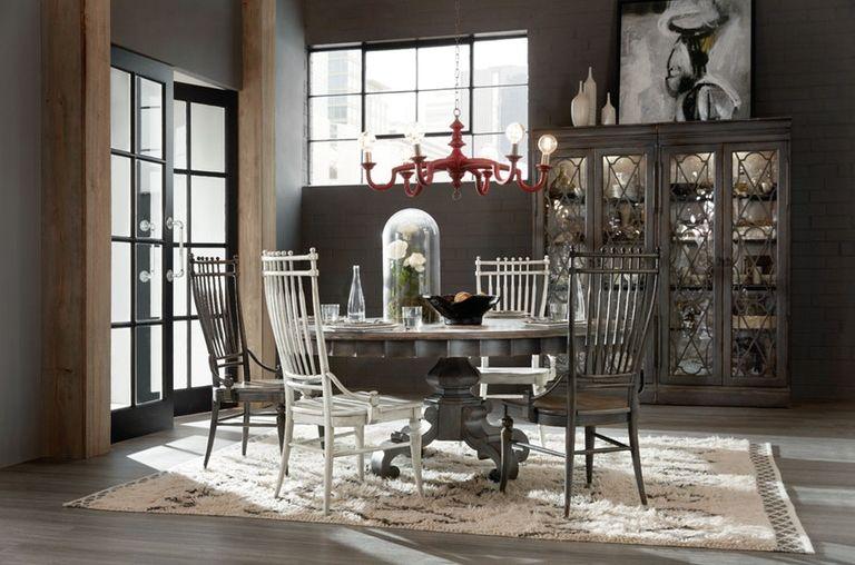 Obedennyj Stol Hooker Furniture 1610 75211 Gry Arabella Round 72 Pedestal Dining Table Kupit V Moskve I Spb