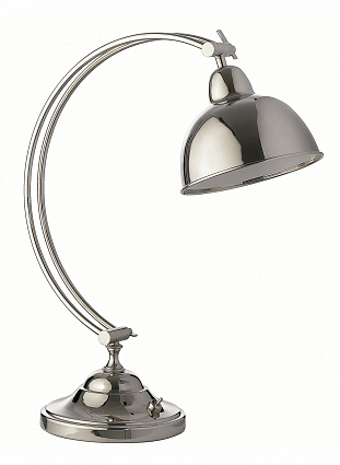 Настольная лампа HEATHFIELD&Co OSLO NICKEL DESK LAMP арт TL-OSLO-PLNL: фото 1