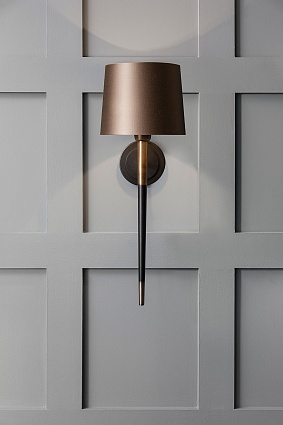 Настольная лампа HEATHFIELD&Co VELETTO WALL LIGHT арт WL-VELE-BABR-SBLK: фото 3