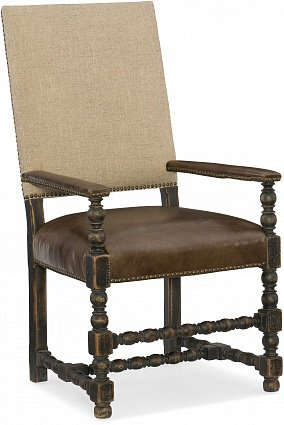 Полукресло HOOKER FURNITURE HILL COUNTRY UPHOLSTERED ARM арт 5960-75400-BLK: фото 1