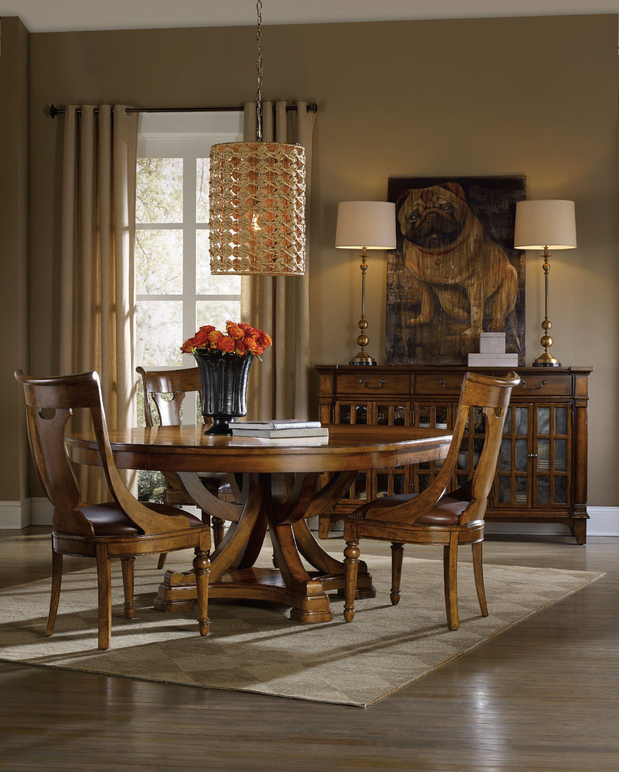 Pedestal dining room